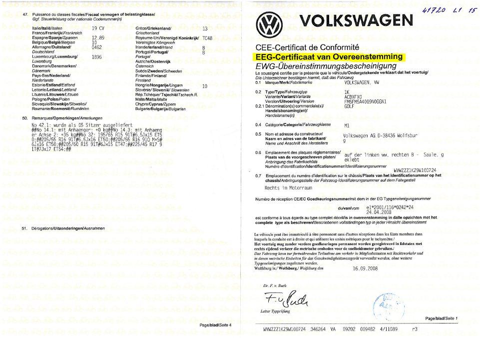 gelijkvormigheidsattest certificate of conformity coc autoveiligheid. Black Bedroom Furniture Sets. Home Design Ideas