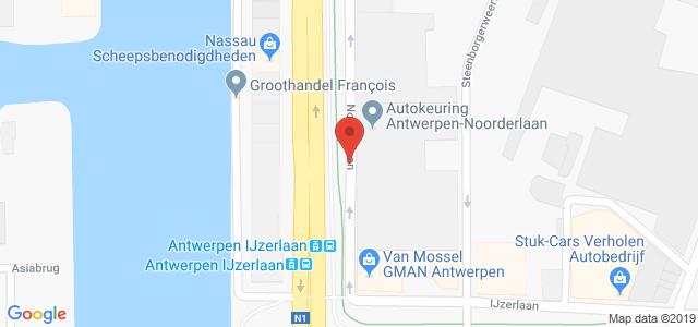 Routebeschrijving naar keuringsstation Antwerpen-Noorderlaan