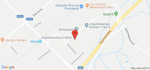 Routebeschrijving naar examencentrum Alken